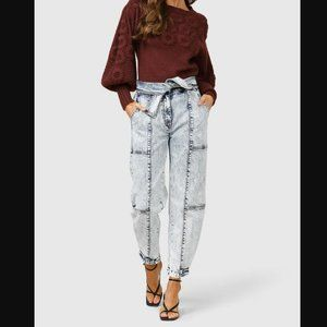 Free People Ministry of Style Denim paperbag jean